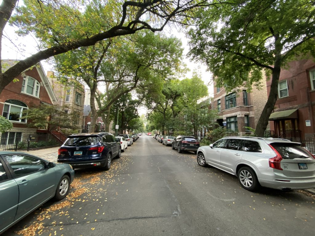 winchester avenue scene in east village chicago