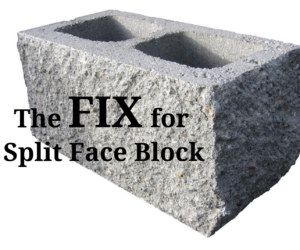 "a split face block ""brick"""