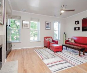After staging photo of living room