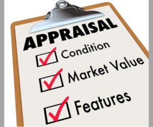 clipboard with an appraisal checklist