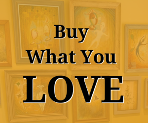 """Buy What You Love"" headline"
