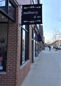 exterior of mulberry & me storefront