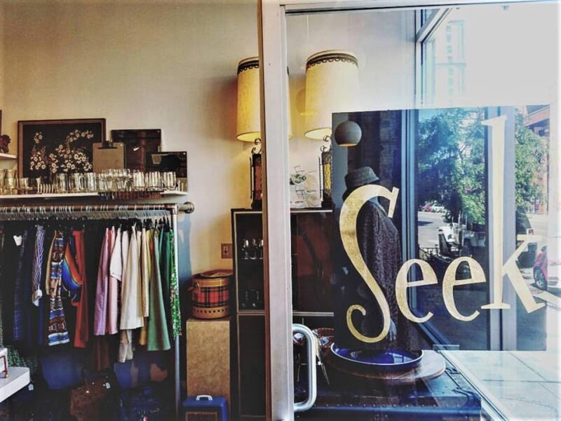inside Seek Vintage shop